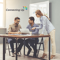 Connecting Up staff in office