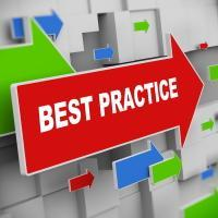 best practice text and arrows