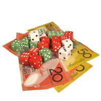 gambling dice and australian money notes