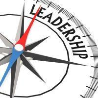 leadership text on compass
