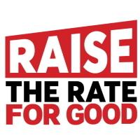 raise the rate for good logo